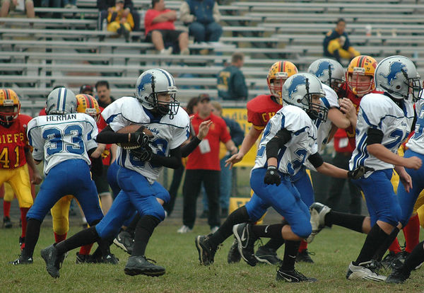 November 5th, 2005: Playoffs - The 2005 Shelby Lions Football Club JV team vs. the Royal Oak Chiefs at Hazel Park High School (Shelby 7, Royal Oak 0).