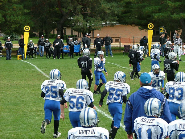 October 8th, 2005: The 2005 Shelby Lions Football Club JV  team vs. the Hazel Park Raiders at the Shelby Lions Football Club Field (Shelby 32, Hazel Park 0).