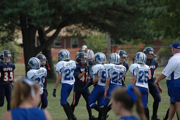 September 3rd, 2005: The 2005 Shelby Lions Football Club JV  team vs. the Roseville Broncos at the Shelby Lions Football Club Field (Shelby 28, Roseville 6).