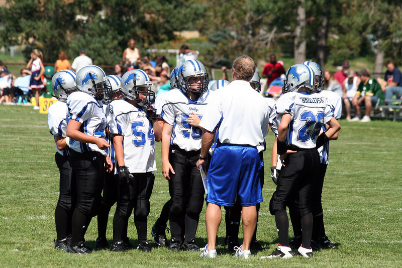 Game #2 - September 1, 2007: The 2007 Shelby Lions Football Club JV Team vs. the Roseville Broncos at Shelby Lions Home Field (Shelby 25, Roseville 0).