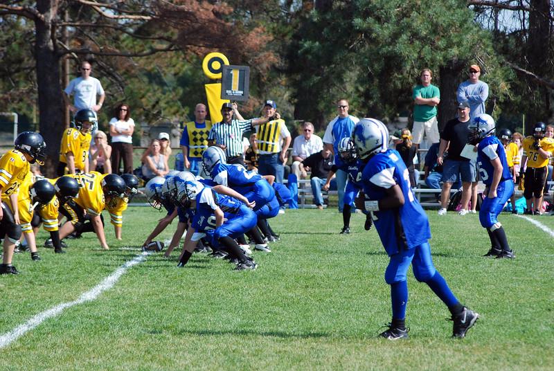 Game #6 - September 30, 2007: The 2007 Shelby Lions Football Club JV Team vs. the Clawson Mavericks at Shelby Lions Home Field (Shelby 26, Mavericks 6).