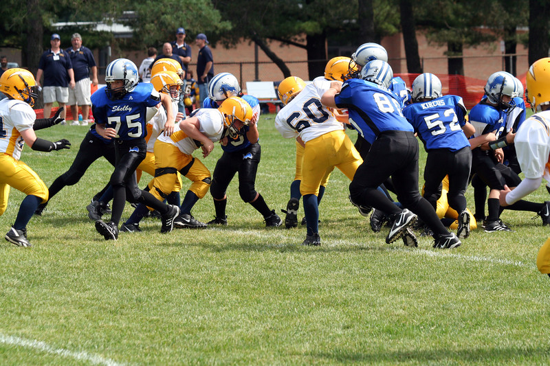 Game #3 - September 9, 2007: The 2007 Shelby Lions Football Club JV Team vs. the Royal Oak Chargers at Shelby Lions Home Field (Shelby 32, Royal Oak 0).