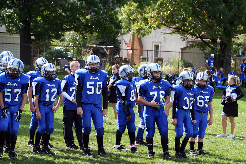 Game #8 - October 14, 2007: The 2007 Shelby Lions Football Club JV Team vs. the North Farmington/West Bloomfield Vikings at the Shelby Lions Home Field (Shelby 6, Vikings 30).