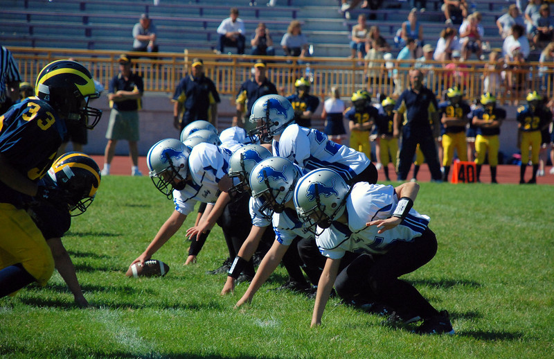 Game #5 - September 23, 2007: The 2007 Shelby Lions Football Club JV Team vs. the Madison Heights Wolverines at Madison High School (Shelby 26, Roseville 0).