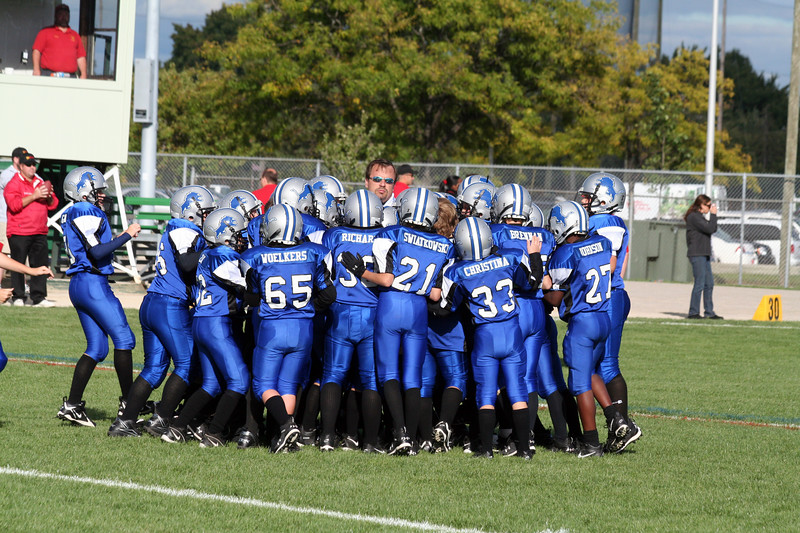 Game #4 - September 15, 2007: The 2007 Shelby Lions Football Club JV Team vs. the Royal Oak Chiefs at Royal Oak Memorial Park (Shelby 32, Royal Oak 0).