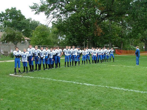October 9th, 2005: The 2005 Shelby Lions Football Club Varsity  team vs. the Hazel Park Raiders at the Shelby Lions Football Club Field (Hazel Park 22, Shelby 8).