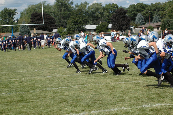 September 3rd, 2005: The 2005 Shelby Lions Football Club Varsity  team vs. the Roseville Broncos at the Shelby Lions Football Club Field (Shelby 12, Roseville 6).