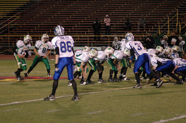 October 15th, 2005: The 2005 Shelby Lions Football Club Varsity team vs. the Troy Cowboys at Troy Athens High School (Troy 32, Shelby 0).
