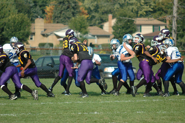 October 2nd, 2005: The 2005 Shelby Lions Football Club Varsity team vs. the North Farmington/West Bloomfield Vikings at the Shelby Lions Football Club Field (North Farmington/West Bloomfield 32, , Shelby 0).