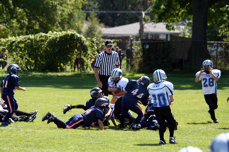 Game #2 - September 1, 2007: The 2007 Shelby Lions Football Club Freshman Team vs. the Roseville Broncos at Shelby Lions Home Field (Shelby 29, Roseville 6).