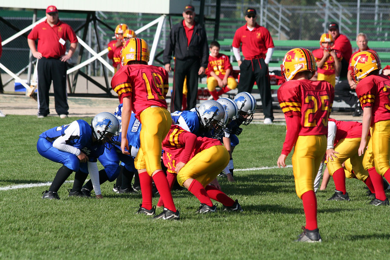Game #4 - September 15, 2007: The 2007 Shelby Lions Football Club Freshman Team vs. the Royal Oak Chiefs at Royal Oak Memorial Park (Shelby 24, Royal Oak 6).