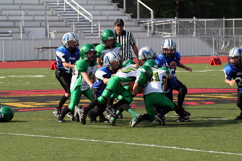Game #7 - October 6, 2007: The 2007 Shelby Lions Football Club Freshman Team vs. the Troy Cowboys at Troy Athens High School (Shelby 13, Troy 12).