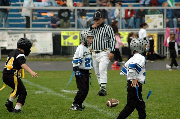 Game #6 - September 30, 2006: The 2006 Shelby Lions Football Club Flag Team vs. the Clawson Mavericks at Clawson Park (Shelby 14, Clawson 0).