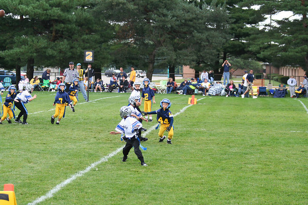 Game #2 - September 2, 2006: The 2006 Shelby Lions Football Club Flag Team vs. the Madison Heights Wolverines at Shelby Lions Home Field (Shelby 12, Madison Heights 8).