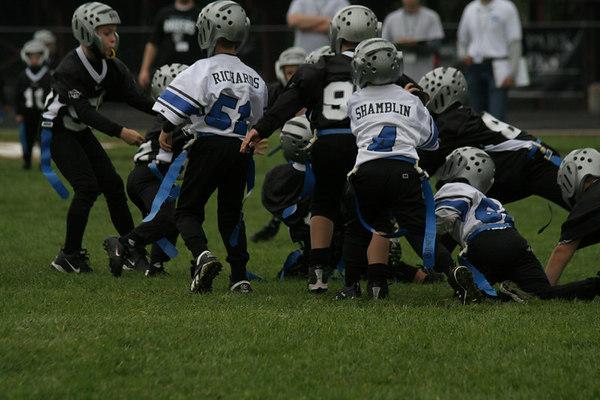 Game #4 - September 16, 2006: The 2006 Shelby Lions Football Club Flag Team vs. the Hazel Park Raiders at Hazel Park High School (Shelby 8, Hazel Park 0).