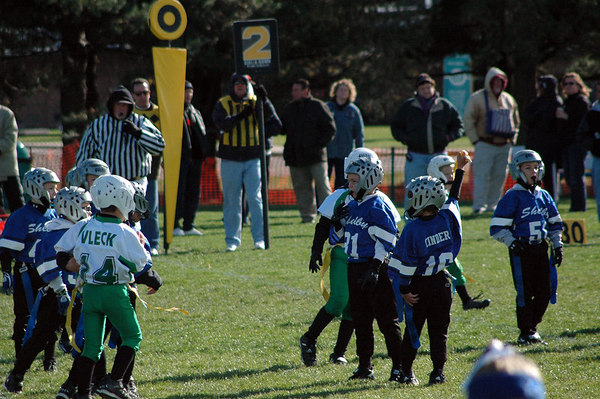 Game #8 - October 14, 2006: The 2006 Shelby Lions Football Club Flag Team vs. the Troy Cowboys at Shelby Lions Home Field (Shelby 0, Troy 12).