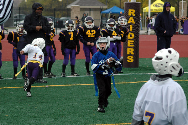 Game #9 - October 21, 2006: The 2006 Shelby Lions Football Club Flag Team vs. the North Farmington/West Bloomfield Vikings at Farmington High School Field (Shelby 19, NFWB 0).