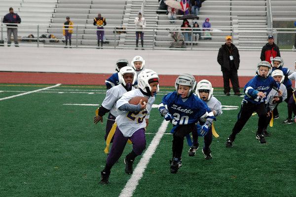 Game #9 - October 21, 2006: The 2006 Shelby Lions Football Club Flag Team vs. the North Farmington/West Bloomfield Vikings at Farmington High School Field (Shelby 19, NFWB 0).