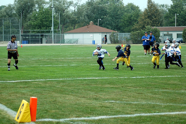 Game #1 - August 26, 2006: The 2006 Shelby Lions Football Club Flag team vs. the Royal Oak Chargers at Royal Oak Memorial Park (Shelby 18, Royal Oak 0).