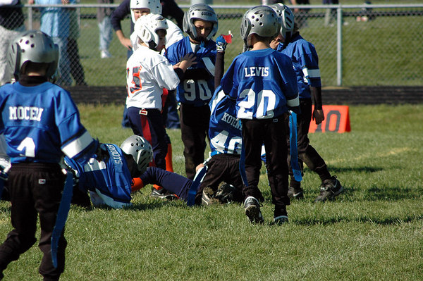 Game #7 - October 7, 2006: The 2006 Shelby Lions Football Club Flag Team vs. the Roseville Broncos at Roseville High School (Shelby 6, Roseville 0).