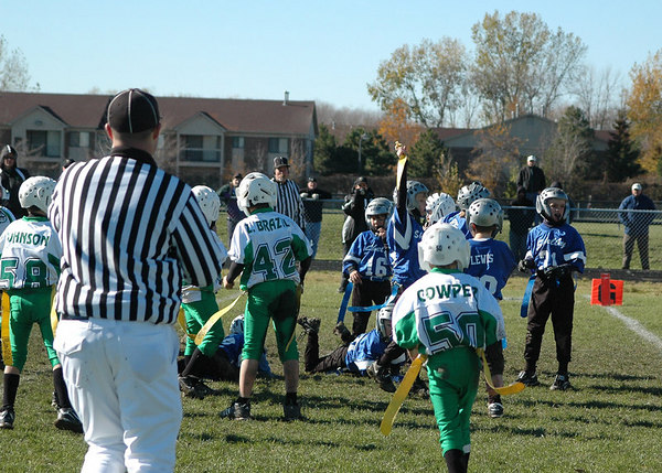 Flagbowl - October 29, 2006: The 2006 Shelby Lions Football Club Flag Team vs. the Troy Cowboys at Roseville High School.