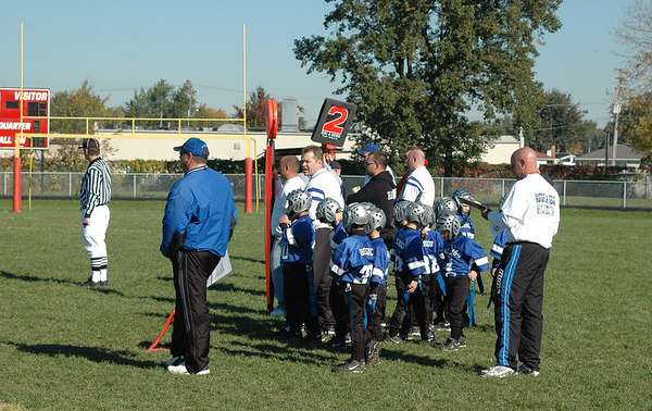 Game #7 - October 7, 2006: The 2006 Shelby Lions Football Club Flag Team vs. the Roseville Broncos at Roseville High School (Shelby 6, Roseville 0).