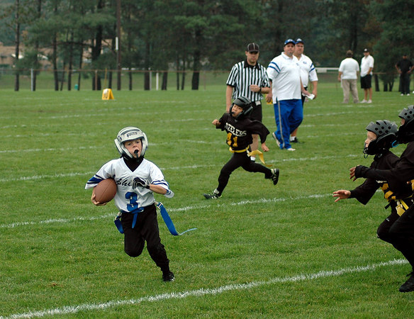Game #5 - September 23, 2006: The 2006 Shelby Lions Football Club Flag Team vs. the Berkley Steelers at Shelby Lions Home Field (Shelby 0, Berkley 6).