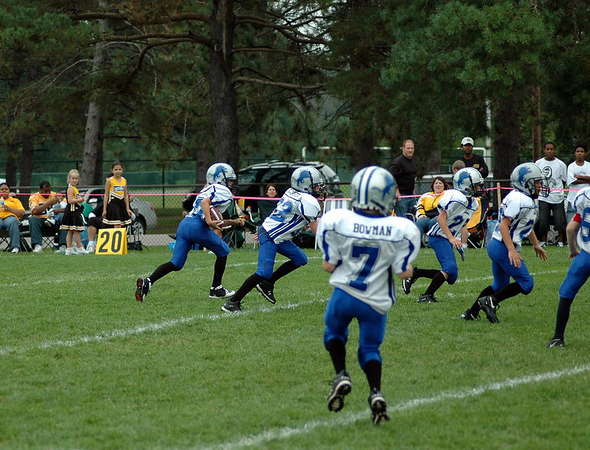 Game #5 - September 23, 2006: The 2006 Shelby Lions Football Club Freshman Team vs. the Berkley Steelers at Shelby Lions Home Field (Shelby 8, Berkley 13).
