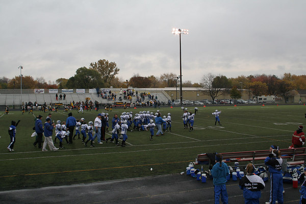 Playoffs - October 28, 2006: The 2006 Shelby Lions Football Club Freshman Team vs. the Berkley Steelers at Hurley Field (Shelby 19, Berkley 12).