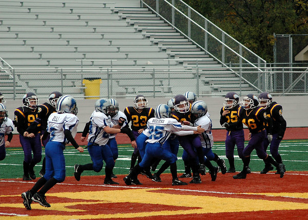 Game #9 - October 21, 2006: The 2006 Shelby Lions Football Club Freshman Team vs. the North Farmington/West Bloomfield Vikings at Farmington High School Field (Shelby 14, NFWB 7).