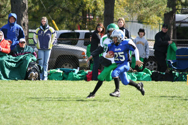 Game #8 - October 14, 2006: The 2006 Shelby Lions Football Club Freshman Team vs. the Troy Cowboys at Shelby Lions Home Field (Shelby 6, Troy 7).