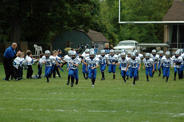 Game #2 - September 2, 2006: The 2006 Shelby Lions Football Club Freshman Team vs. the Madison Heights Wolverines at Shelby Lions Home Field (Shelby 12, Madison Heights 6).