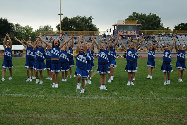 The 2005 Shelby Lions Football Club Freshman Cheer Squad . OMYFA Cheer Off  Competition: 1st Place in Cheer/3rd Place in Dance