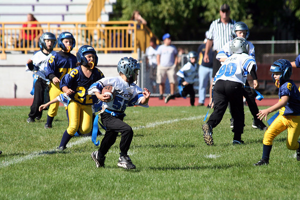 Game #5 - September 23, 2007: The 2007 Shelby Lions Football Club Flag Team vs. the Madison Hgts Wolverines at Madison High School (Shelby 19, Madison Heights 13).