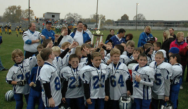 November 5th, 2005:   Playoffs - The 2005 Shelby Lions Football Club Freshman team vs. the North Farmington/West Bloomfield Vikings at Hazel Park High School (Shelby 13, North Farmington/West Bloomfield  0).