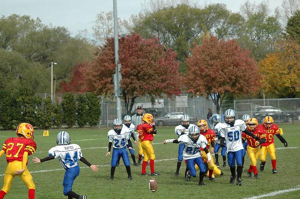 October 22nd, 2005: The 2005 Shelby Lions Football Club Freshman team vs. the Royal Oak Chiefs at Royal Oak Memorial Park (Shelby 20, Royal Oak 2).