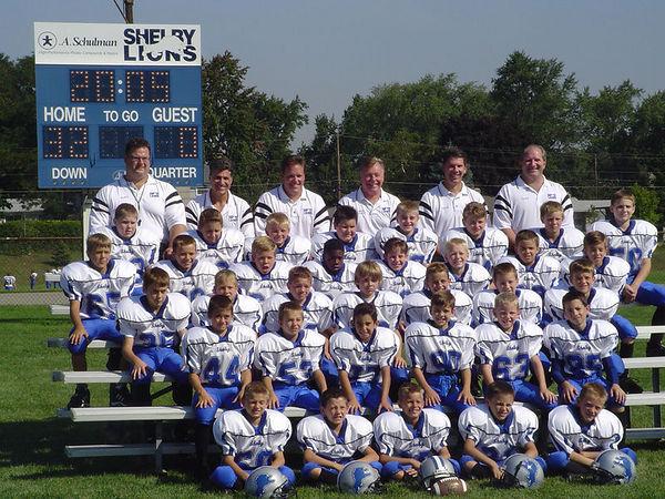 The 2005 Shelby Lions Football Club Freshman Team