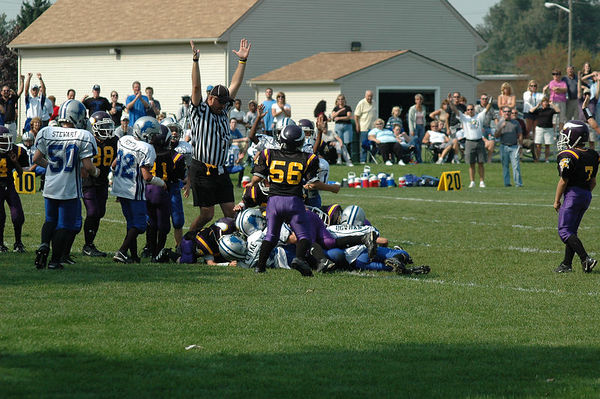 October 2nd, 2005: The 2005 Shelby Lions Football Club Freshman team vs. the North Farmington/West Bloomfield Vikings at the Shelby Lions Football Club Field (Shelby 13, North Farmington/West Bloomfield 6 - Overtime).