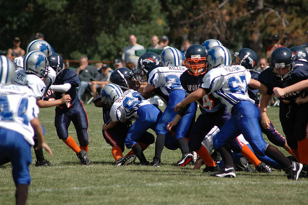 September 3rd, 2005: The 2005 Shelby Lions Football Club Freshman  team vs. the Roseville Broncos at the Shelby Lions Football Club Field (Shelby 25, Roseville 6).