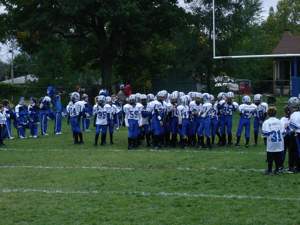 October 8th, 2005: The 2005 Shelby Lions Football Club Freshman team vs. the Hazel Park Raiders at the Shelby Lions Football Club Field (Hazel Park 22, Shelby 8).