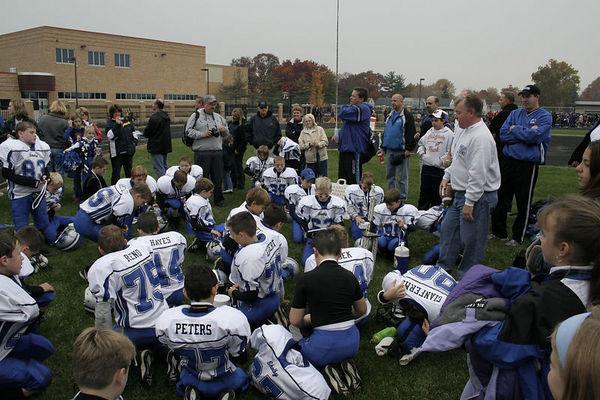 November 5th, 2005:   Playoffs - The 2005 Shelby Lions Football Club Freshman team vs. the North Farmington/West Bloomfield Vikings at Hazel Park High School (Shelby 13, North Farmington/West Bloomfield  0).