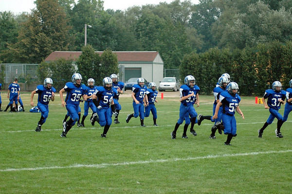 Game #1 - August 26, 2006: The 2006 Shelby Lions Football Club Varsity Team vs. the Royal Oak Chargers at Royal Oak Memorial Park (Shelby 14, Royal Oak 34).