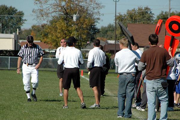 Game #7 - October 7, 2006: The 2006 Shelby Lions Football Club Varsity Team vs. the Roseville Broncos at Roseville High School (Shelby 0, Roseville 32).