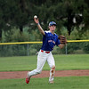 Shelby County Senior Legion shortstop Kade Allen throws the ball during a legion baseball game against Lincoln Post 263 on Tuesday, June 29, 2021, at Shelbyville High School, in Shelbyville, Illinois.