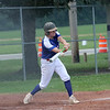 Shelby County Senior Legion third baseman Bryce Bieber hits the ball during a legion baseball game against Lincoln Post 263 on Tuesday, June 29, 2021, at Shelbyville High School, in Shelbyville, Illinois.