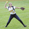 Shenango's Alyssa White throws a hit back into the infield. — Tiffany Wolfe