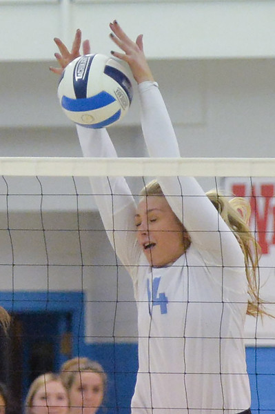 Joel Moline | The Sheridan Press<br /> Sheridan's College's Alli Puuri (2) tries to keep the ball alive against Casper College Wednesday, Oct. 2, 2019.