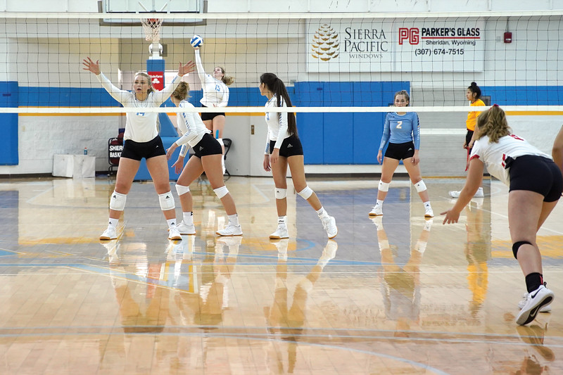 Matthew Gaston | The Sheridan Press<br>The Sheridan College Lady Generals squared off against the Casper College Lady Thunderbirds at the Bruce Hoffman Golden Dome Wednesday, Oct. 2, 2019.