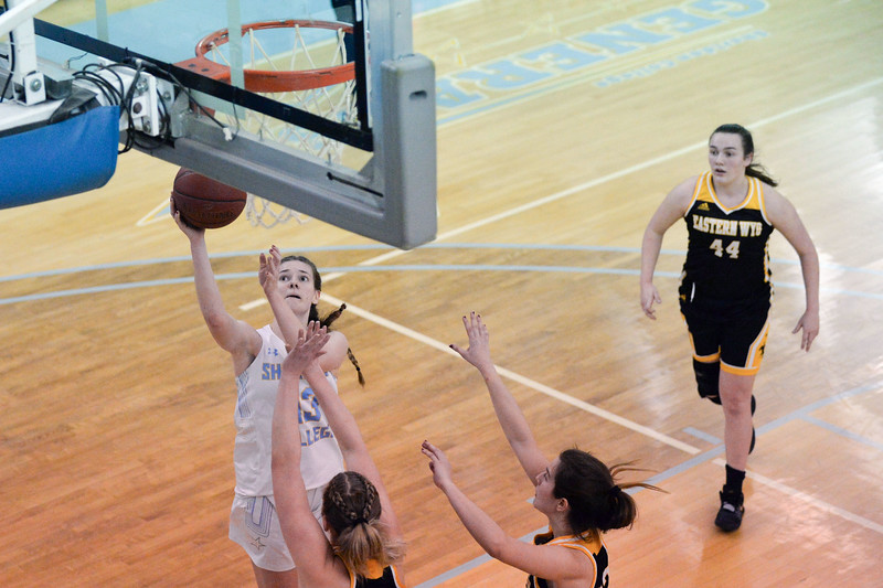 Joel Moline | The Sheridan Press<br /> Sheridan College's Julia Bartlett (13) scores a layup against Eastern Wyoming College, Wednesday, Jan. 8, 2020.