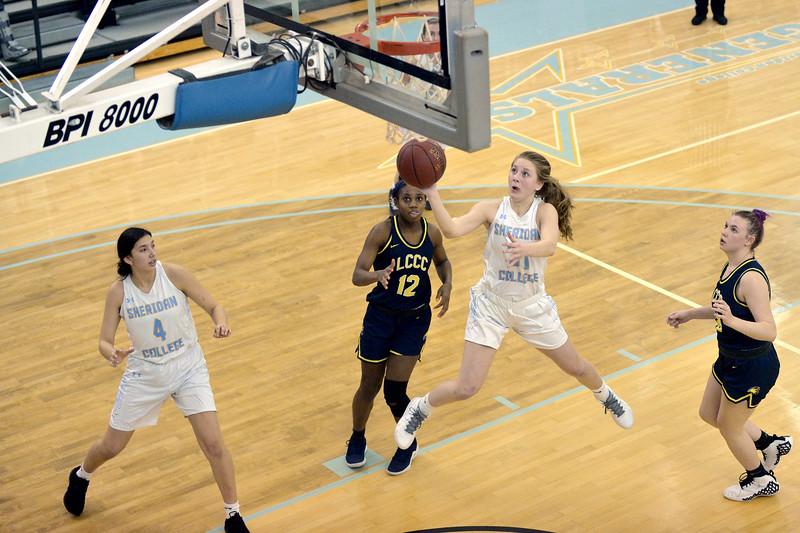 Joel Moline | The Sheridan Press<br /> Sheridan College's Shelby Tarter (31) scores a layup against Laramie County Community College Saturday, Jan. 18, 2020.
